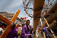 A penitent recreates the Passion of the Christ in Iztapalapa, east of Mexico City. More than one billion Roman Catholics around the world commemorate Christ's crucifixion in Good Friday ceremonies. On April 2, 2010 in Mexico City, Mexico.