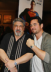 Sopranos Vincent Pastore poses with Superman's Dean Cain at Chiller Theatre's Spring Spooktacular on the weekend of April 27-29 at the Hilton Parsippany in Parsippany, New Jersey. (Photo by Sue Coflin/Max Photos)