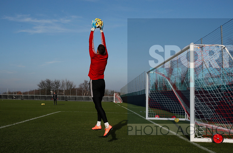Michael Verrips of Sheffield Utd during the Press Conference & Training at the Steelphalt Academy, Sheffield. Picture date: 7th February 2020. Picture credit should read: Simon Bellis/Sportimage