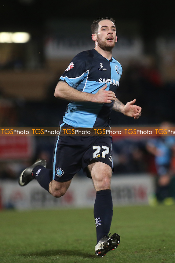 Reece Styche of Wycombe Wanderers - Wycombe Wanderers vs Fleetwood Town - Sky Bet League Two Football at Adams Park, High Wycombe, Buckinghamshire - 11/02/14 - MANDATORY CREDIT: Paul Dennis/TGSPHOTO - Self billing applies where appropriate - 0845 094 6026 - contact@tgsphoto.co.uk - NO UNPAID USE