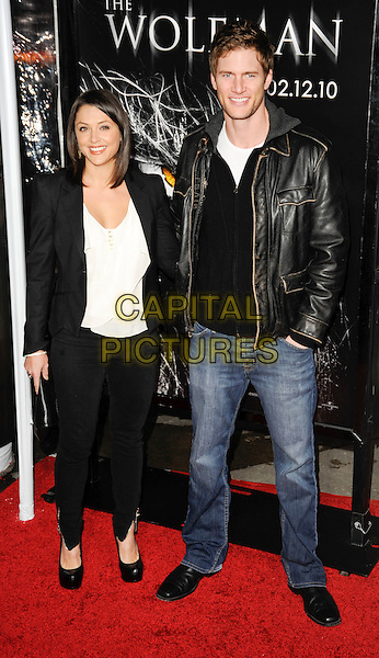 "DANIELLE KIRLIN & RYAN McPARTLIN.""The Wolfman"" Los Angeles Premiere held at Arclight Cinemas, Hollywood, California, USA, .9th February 2010.arrivals full length jeans leather jacket black blazer  couple married husband wife .CAP/ROT.©Lee Roth/Capital Pictures"