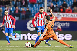 Yannick Ferreira Carrasco (l) of Atletico de Madrid battles for the ball with Gonzalo Escalante of SD Eibar during their Copa del Rey 2016-17 Quarter-final match between Atletico de Madrid and SD Eibar at the Vicente Calderón Stadium on 19 January 2017 in Madrid, Spain. Photo by Diego Gonzalez Souto / Power Sport Images