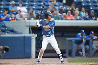 Garrett McCain (10) of the West Michigan Whitecaps at bat against the South Bend Cubs at Fifth Third Ballpark on June 10, 2018 in Comstock Park, Michigan. The Cubs defeated the Whitecaps 5-4.  (Brian Westerholt/Four Seam Images)