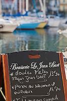 Europe/France/Corse/2B/Haute-Corse/Cap Corse/Bastia:Menu du  Restaurant: Le Jean Bart sur le Vieux Port