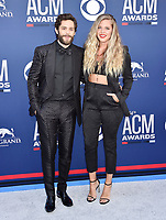 LAS VEGAS, CA - APRIL 07: Thomas Rhett (L) and Lauren Akins attend the 54th Academy Of Country Music Awards at MGM Grand Hotel &amp; Casino on April 07, 2019 in Las Vegas, Nevada.<br /> CAP/ROT/TM<br /> &copy;TM/ROT/Capital Pictures