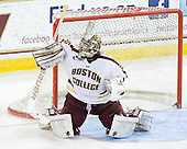 Parker Milner (BC - 35) - The Boston College Eagles defeated the Providence College Friars 7-0 on Saturday, February 25, 2012, at Kelley Rink at Conte Forum in Chestnut Hill, Massachusetts.
