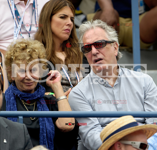 September 3, 2012: Actor Alan Rickman attends Day 8 of the 2012 U.S. Open Tennis Championships at the USTA Billie Jean King National Tennis Center in Flushing, Queens, New York, USA. © mpi105/MediaPunch Inc. /NortePhoto.com<br /> <br /> **CREDITO*OBLIGATORIO** <br /> *No*Venta*A*Terceros*<br /> *No*Sale*So*third*<br /> *** No*Se*Permite*Hacer*Archivo**<br /> *No*Sale*So*third*