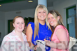 ENJOYING: Having enjoyable night at the Lee Strand evening of racing at the Kingdom Greyhound Stadium on Friday night l-r: Natalie Keane, Glin, Asling Quinn, Clarina, Limerick and Jodi O'Connor, Talbert.   Copyright Kerry's Eye 2008