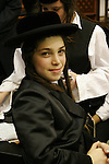 Israel, Bnei Brak. The Synagogue of the Premishlan congregation, Simchat Torah (on the eights day of Succot), a young Hasid<br />