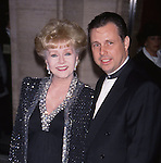 Debbie Reynolds and Todd Fisher attends the Film Society of Lincoln Center Tribute to Jane Fonda on May 7, 2001 at  Avery Fisher Hall in New York City.