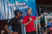 Fleet Feet St. Louis owner David Spetnagel talks about running part of the new St. Louis Rock 'n Roll Marathon course with Meb Keflezghi earlier in the day and explains where the route for the run with Meb that followed would be.