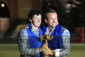 Winning European Team Players Rory McIlroy and Graeme McDowell (NIR) after Sunday's Singles Matches of the 39th Ryder Cup at Medinah Country Club, Chicago, Illinois 30th September 2012 (Photo Colum Watts/www.golffile.ie)