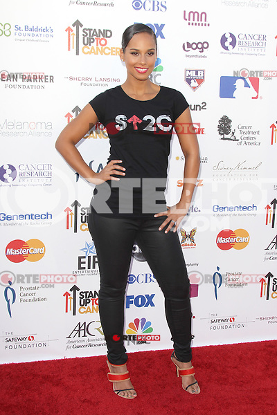 LOS ANGELES, CA - SEPTEMBER 07: Alicia Keys at the Stand Up To Cancer benefit at The Shrine Auditorium on September 7, 2012 in Los Angeles, California. Credit: mpi27/MediaPunch Inc. /NortePhoto.com<br />