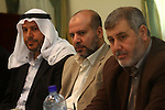 Palestinian factions leaders attend a meeting to discuss the latest developments in the Palestinian reconciliation in Gaza City on Dec. 1,2010. Photo by Ashraf Amra