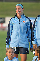Piscataway, NJ - Saturday Aug. 27, 2016: Erin Simon prior to a regular season National Women's Soccer League (NWSL) match between Sky Blue FC and the Chicago Red Stars at Yurcak Field.