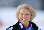 Princess Beatrix of The Netherlands poses at a photocall during their ski holidays, in Lech am Arlberg on February 17, 2014.  PIERRE TEYSSOT