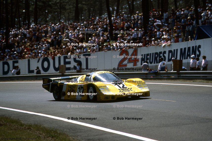 Porsche 956 driven by Volkert Merl, Dieter Schornstein and John Winter during the 1984 24 Hours of Le Mans auto race.