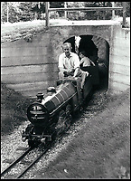 BNPS.co.uk (01202 558833)<br /> Pic:  BraybrookCollection/BNPS<br /> <br /> Lord Braybrooke driving one of the model trains.<br /> <br /> A late aristocrat's prized collection of model trains has sold for £244,000.<br /> <br /> Lord Braybrooke set up a miniature garden railway 55 years ago in the grounds of his stately home at Audley End House in Saffron Walden, Essex.<br /> <br /> He died in 2017 and his family parted with nine of his locomotives to raise funds to improve the railway's facilities so it can keep running for future generations.