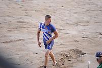 FIERLJEPPEN: BURGUM: 06-08-2016, ROC FRIESE POORT Competitie eeste klas Fierljeppen, Winnaar Nard Brandsma, ©foto Martin de Jong