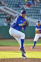 Ogden Raptors starting pitcher Roberth Fernandez (51) delivers a pitch to the plate against the Idaho Falls Chukars in Pioneer League action at Lindquist Field on June 22, 2015 in Ogden, Utah. The Chukars defeated the Raptors 4-3 in 11 innings. (Stephen Smith/Four Seam Images)