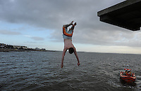 25/12/2013. Galway, Ireland. Christmas day Charity swim at Blackrock, Salthill