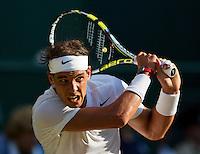 England, London, 28.06.2014. Tennis, Wimbledon, AELTC, Rafael Nadal (ESP)<br /> Photo: Tennisimages/Henk Koster