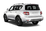 Car pictures of rear three quarter view of 2017 Nissan Armada Platinum 5 Door SUV Angular Rear