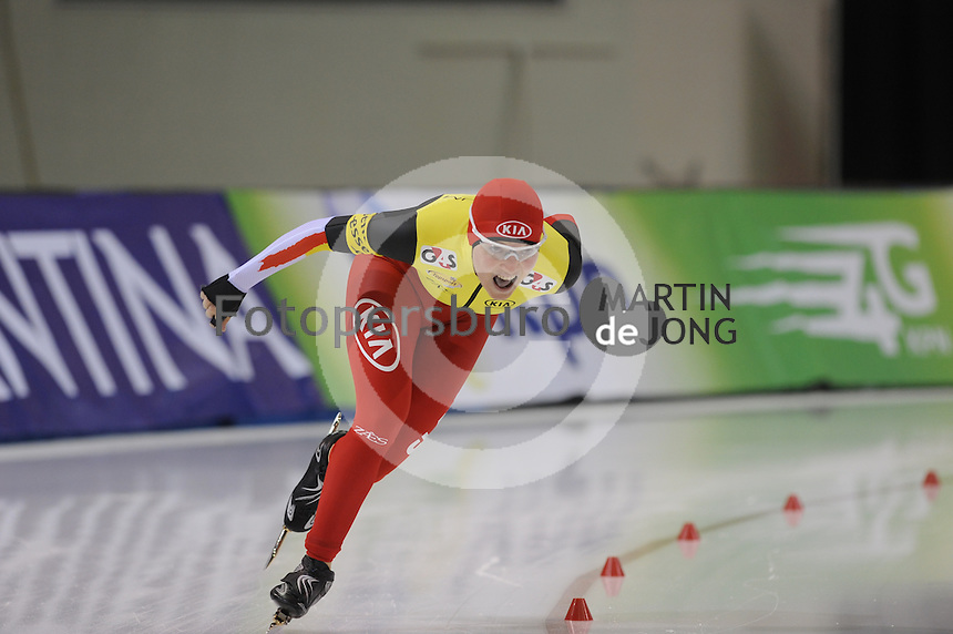 SCHAATSEN: SALT LAKE CITY: Utah Olympic Oval, 15-11-2013, Essent ISU World Cup, 3000m, Jelena Peeters (BEL), ©foto Martin de Jong