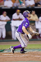 TCU's Holaday, Bryan 7851.jpg against Florida State at the College World Series on June 23rd, 2010 at Rosenblatt Stadium in Omaha, Nebraska.  (Photo by Andrew Woolley / Four Seam Images)