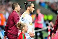Pictured: Chico Flores.<br /> Saturday 04 May 2013<br /> Re: Barclay's Premier League, Swansea City FC v Manchester City at the Liberty Stadium, south Wales.