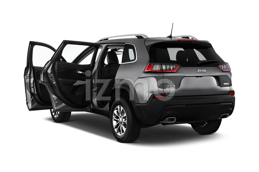 Car images close up view of a 2019 Jeep Cherokee Latitude Plus 4X4 5 Door SUV doors