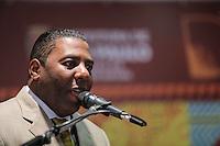 SAO PAULO, SP, 27 MAIO 2013 - LULA DIA DA AFRICA - Netinho de Paula durante evento D'África-São Paulo, que celebra o Dia da África na sede da prefeitura de Sao Paulo na regiao central da cidade nesta segunda-feira, 27. FOTO: VANESSA CARVALHO - BRAZIL PHOTO PRESS.