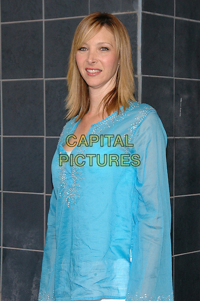 "LISA KUDROW.Film Premiere of ""Happy Endings"" at the Chelsea Clearview Theater in Manhattan, New York, NY, USA, .July 12th 2005..half length blue turquoise beaded kaftan top   .Ref: ADM.www.capitalpictures.com.sales@capitalpictures.com.©Patti Ouderkirk/AdMedia/Capital Pictures."