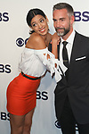 Stephanie Sigman and Jay Harrington arrive at the CBS Upfront at The Plaza Hotel in New York City on May 17, 2017.