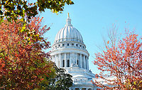 """Capitol in Color""  Madison, Wisconsin  Capitol Square 