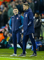 Middlesbrough manager Jonathan Woodgate and assistant Robbie Keane watch on in the second half<br /> <br /> Photographer Alex Dodd/CameraSport<br /> <br /> The EFL Sky Bet Championship - Leeds United v Middlesbrough - Saturday 30th November 2019 - Elland Road - Leeds<br /> <br /> World Copyright © 2019 CameraSport. All rights reserved. 43 Linden Ave. Countesthorpe. Leicester. England. LE8 5PG - Tel: +44 (0) 116 277 4147 - admin@camerasport.com - www.camerasport.com