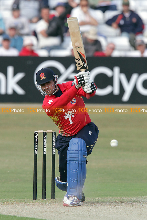 Owais Shah in batting action on debut for Essex - Essex Eagles vs Unicorns - Clydesdale Bank CB40 Cricket at the Ford County Ground, Chelmsford - 22/05/11 - MANDATORY CREDIT: Gavin Ellis/TGSPHOTO - Self billing applies where appropriate - Tel: 0845 094 6026