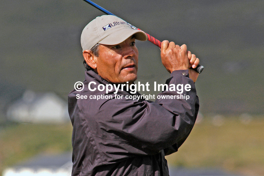 Guillermo Encina, Chile, professional, golfer, Irish Seniors Open, Ballyliffin Old Course, Co Donegal, Ireland, 200806207771  ..Copyright Image from Victor Patterson, 54 Dorchester Park, Belfast, UK, BT9 6RJ..Tel: +44 28 9066 1296.Mob: +44 7802 353836.Voicemail +44 20 8816 7153.Skype: victorpattersonbelfast.Email: victorpatterson@mac.com.Email: victorpatterson@ireland.com (back-up)..IMPORTANT: If you wish to use this image or any other of my images please go to www.victorpatterson.com and click on the Terms & Conditions. Then contact me by email or phone with the reference number(s) of the image(s) concerned.