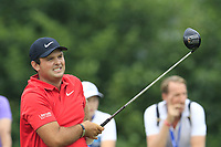 Patrick Reed (USA) tees off the 12th tee during Saturday's Round 3 of the Porsche European Open 2018 held at Green Eagle Golf Courses, Hamburg Germany. 28th July 2018.<br /> Picture: Eoin Clarke | Golffile<br /> <br /> <br /> All photos usage must carry mandatory copyright credit (&copy; Golffile | Eoin Clarke)