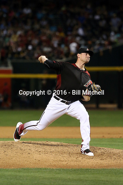 Daniel Hudson - 2016 Arizona Diamondbacks (Bill Mitchell)