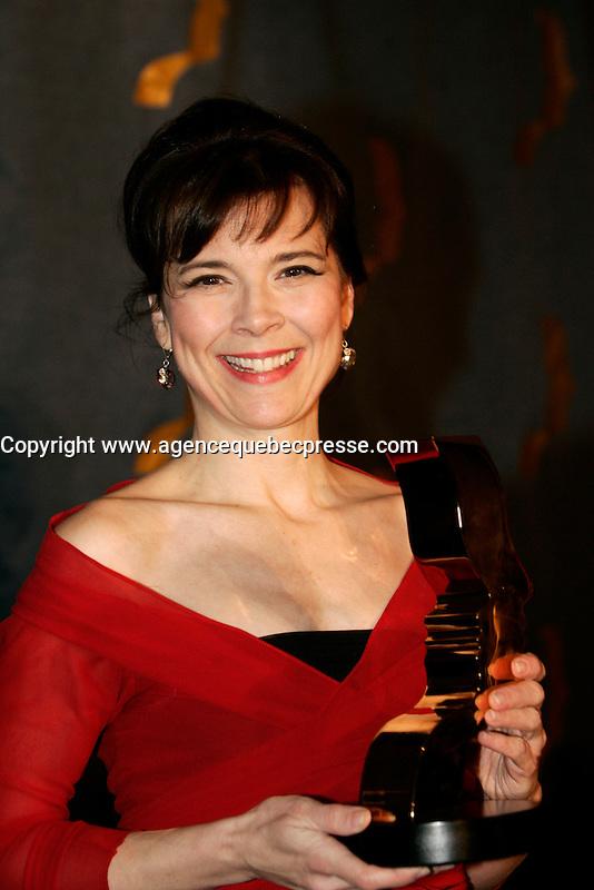 Anne Dorval, gagante Gale G&Egrave;meaux 2005<br /> Photo : (c) 2005 Pierre Roussel