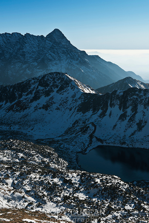 View south across Tatra mountains from near Zawrat pass, Poland