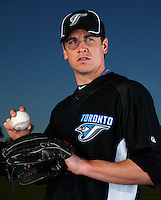 March 1, 2010:  Pitcher Zachary (Zach) Stewart (73) of the Toronto Blue Jays poses for a photo during media day at Englebert Complex in Dunedin, FL.  Photo By Mike Janes/Four Seam Images