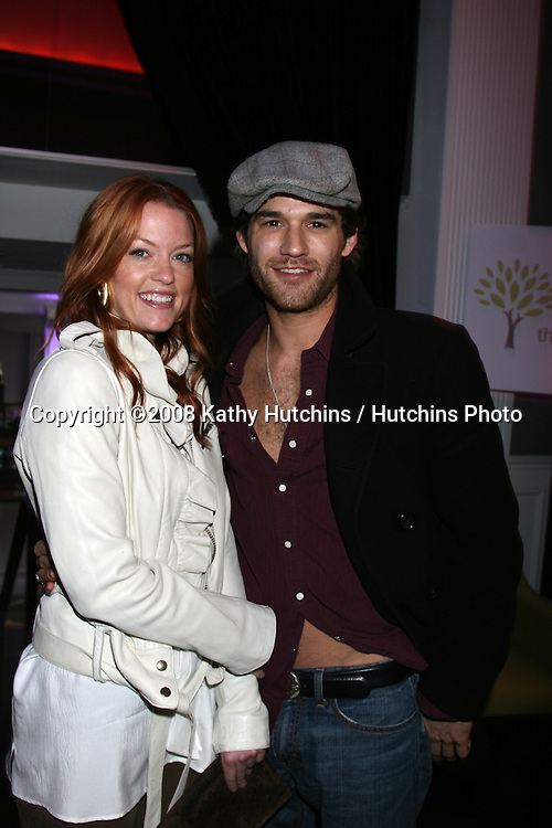 Johnny Whitworth & date.GBK Productions Oscar Gifting Suite.Boulevard3.Los Angeles, CA.February 22, 2008.©2008 Kathy Hutchins / Hutchins Photo....
