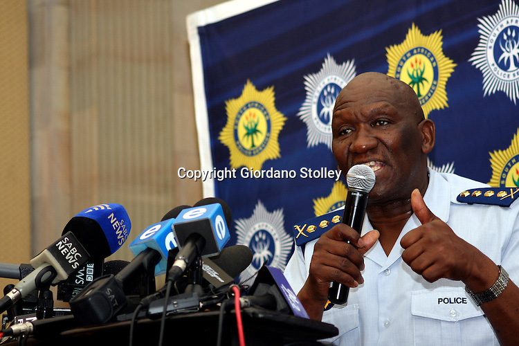 PRETORIA - 9 September 2010 - National Police Commissioner Bheki Cele speaks to the media at the official realease of the country's crime statistics for the financial year ended 28 February 2010. - APP/Allied Picture Press