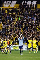 26 SEPTEMBAR 2009:  #1 William Hesmer, Columbus Crew goal keeper celebrates the Crew victory after  the Los Angeles Galaxy at Columbus Crew MLS game in Columbus, Ohio on May 27, 2009. Columbus defeated LA 2-0