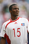 10 June 2007: Cuba's Gisbel Morales. The Panama and Cuba Men's National Teams tied 2-2 at Giants Stadium in East Rutherford, New Jersey in a first round game in the 2007 CONCACAF Gold Cup.