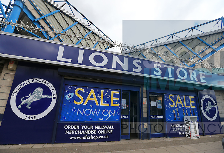 A general view of the Den with a sale sign.  Photo credit should read: David Klein/Sportimage