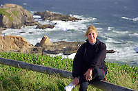 After a hike to the top the bluffs of Bodega Bay, time for a break!
