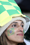 15 JUN 2010:  Brazil fan in the stands.  The Brazil National Team played the North Korea National Team at Ellis Park Stadium in Johannesburg, South Africa in a 2010 FIFA World Cup Group G match.